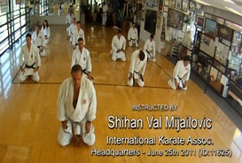 Val Mijailovic teaching karate at IKA DOWNLOAD Video